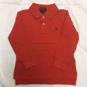 EUC Orange Long Sleeve Polo Ralph Lauren Polo